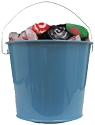 5 Quart Colored Metal Buckets - 12ct