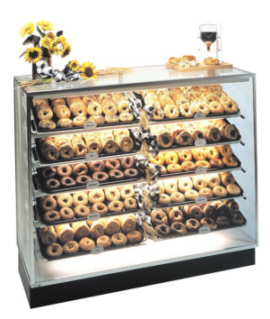 Pan Type Bagel Display Case Bakery Retail Showcase