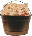 16 Quart Colored Metal Buckets - 8ct