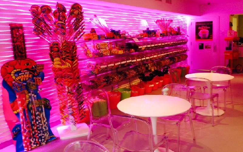 Candy And Yogurt Shop Delights