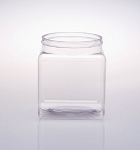 95 oz Square Plastic Jars - 16ct