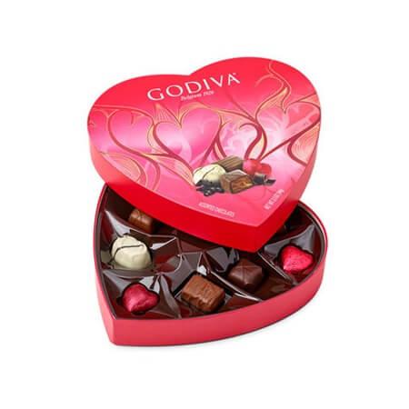 Chocolate 9 Piece Heart Box Gourmet Chocolates Heart Box