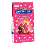 Milk Chocolate Caramel Hearts Bag - 12ct