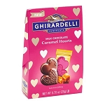 Milk Chocolate Caramel Hearts Small Bag - 24ct
