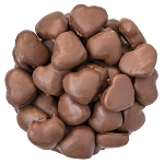 Chocolate Covered Gummy Hearts - 10lb