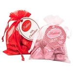 Chocolate Hearts Organza Bag - 24ct