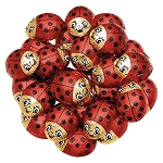 Chocolate Lady Bugs Foiled - 60ct