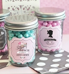 Classic Baby Shower Mini Glass Mason Jars - 24ct