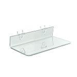 Clear Acrylic Shelf For Pegboard/Slatwall - 10.5in. - 4ct
