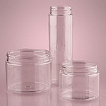 12 Oz Short Clear Screw Top Jars - 24ct