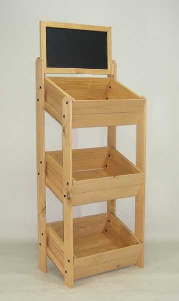 3 Tier Crate Display With Chalkboard