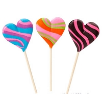 Crazy Heart Lollipops - 48ct