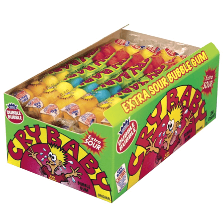 Super Sour Cry Baby Gum 9 Ball Tube Popular Fun Candy
