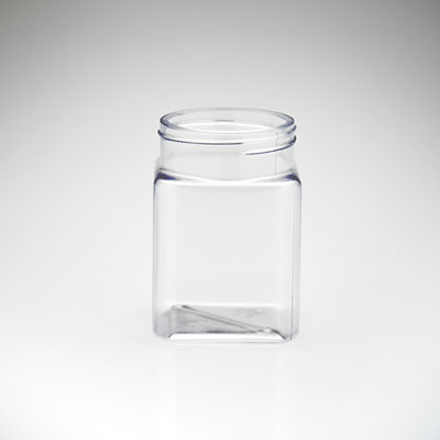 6 Oz Plastic Square Jar Party Favor Container Candy Jars