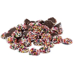 Dark Chocolate Mini Rainbow Nonpareils - 10lbs