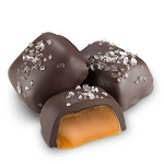 Dark Chocolate Sea Salt Caramels - 10lbs