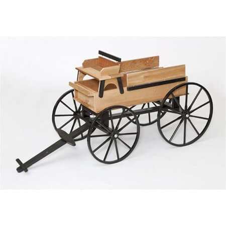 Decorative Hitch Wagon Wooden Wagon Planter Display Cart
