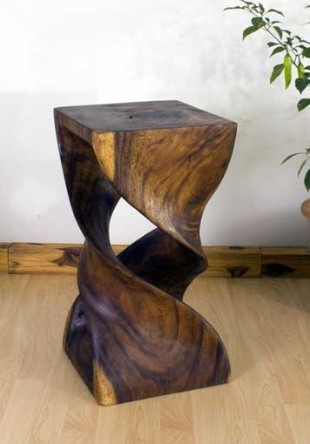Hand Carved Double Twist Stand Hand Carved Display