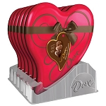 Dove Assorted Chocolate Heart Tin - 6ct
