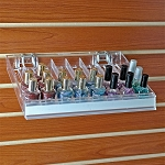 Eight Compartment Nail Polish Tray W/ Flip Front - 2ct