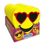 Emoji Foam Heart Box w/Gummies - 6ct