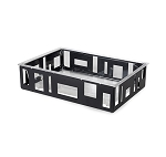 XL Rectangular Black Matte Ice Tub w/ Insert