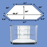 Extra Vision Metal Framed Corner Display Case