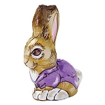 Foiled Hollow Chocolate Easter Bunny - 12ct