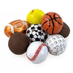 Foiled Chocolate Assorted Sports Balls  - 24lbs