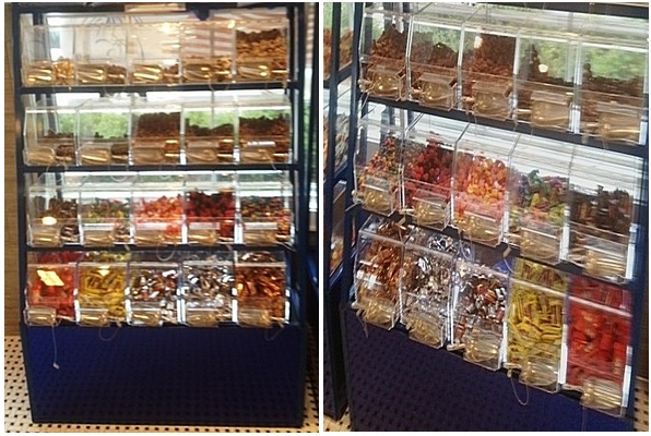 Mirrored Candy Racks Displays