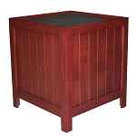 Cherry Stained Oak Orchard Bin w/ One-Side Shelves