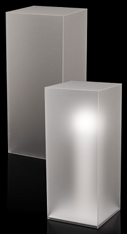 Frosted Acrylic Pedestal Retail Display Pedestal Stand