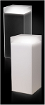 Frosted Acrylic Pedestal with Sleeve and Light - Size Options