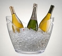Clear Wine Gondola Bucket - 4ct