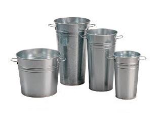 Galvanized Buckets Versatile Product Displays