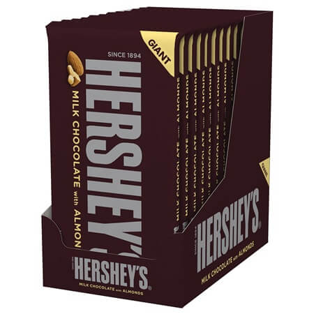 Giant Hershey Milk Chocolate Almonds Milk Chocolate Nuts