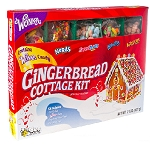 Gingerbread Christmas Cottage Kit - 6ct