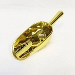 Gold Plastic Scoops - 3oz - 12ct
