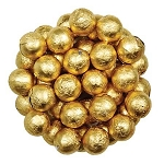 Gold Foil Chocolate Balls - 10lbs