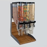3 Bin Gravity Dispenser Countertop Display