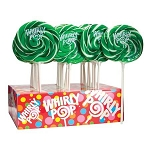 Green & White Whirly Pops - 1.5oz - 24ct