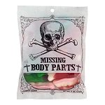 Gummy Missing Body Parts Peg Bag - 12ct