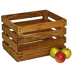1/2 Bushel Stained Wood Crate