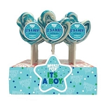 It's A Boy Whirly Pops - Raspberry Flavor - 24ct