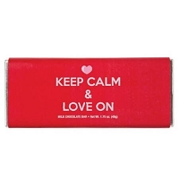 Keep Calm Love Chocolate Bar - 24ct