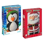 Large Marshmallow Santa And Penguin - 12ct
