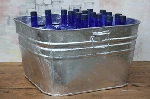Large Square Metal Tub