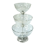 Large Three-Tier Bowl Counter Display