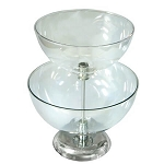 Large Two-Tier Bowl Counter Display
