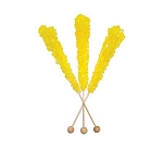 Lemon Rock Candy Sticks - Unwrapped - 120ct
